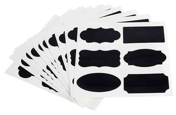 72 Beschriftungskarten 12 Bögen mit je 6 Motiven , Schwarz