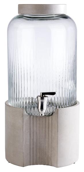 Getränkespender -ELEMENT- Ø 22 cm, H: 45 cm, 7 Liter , Grau