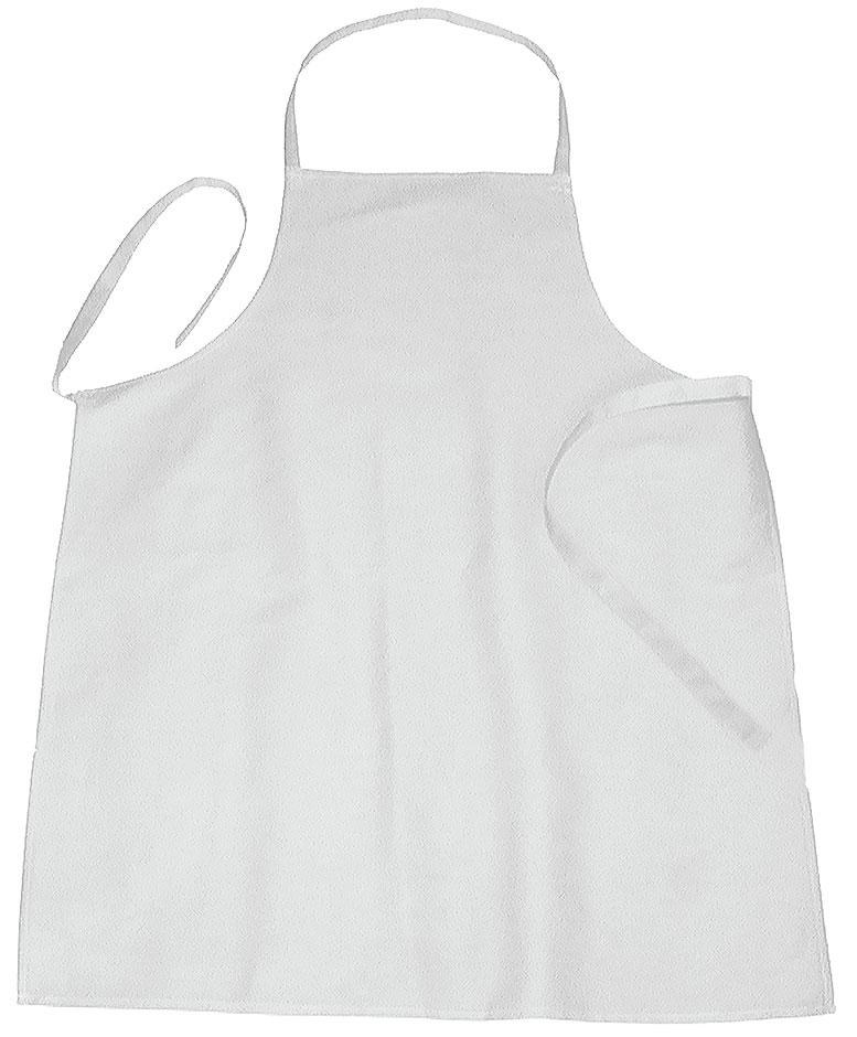 Schürze mit Latz, weiß 110 cm