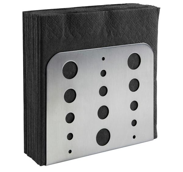 Serviettenhalter 15 x 4,5 cm, H: 12,5 cm , Edelstahl