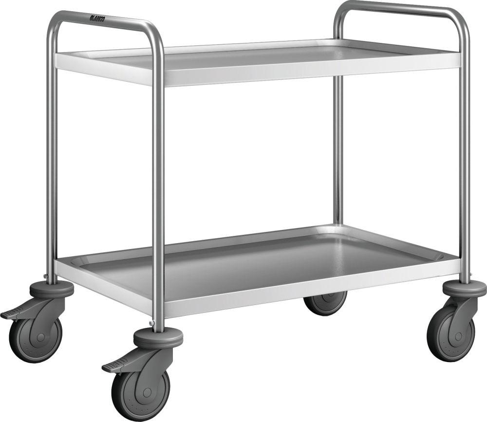 Blanco Servierwagen 2 Borde / 600 x 400 mm / mit Kunststoff Rollen