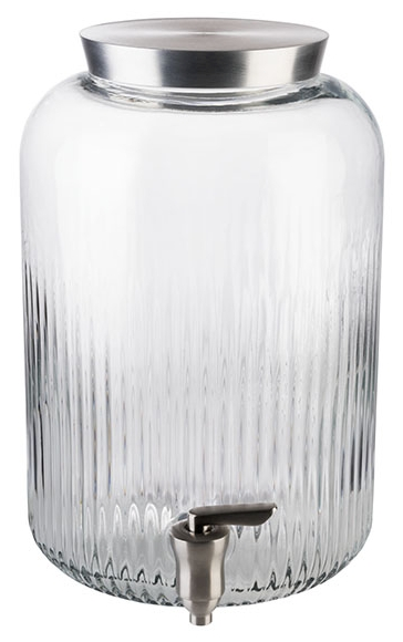 Getränkespender Ø 20 cm, H: 30,5 cm, 7 Liter , Edelstahl