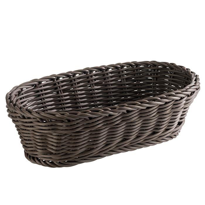 Baguette Korb, oval 28 x 16 cm, H: 8 cm , Braun