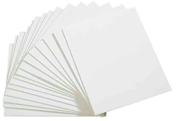 Beschriftungskarten, 50 Stück 10 x 8 cm , Weiß