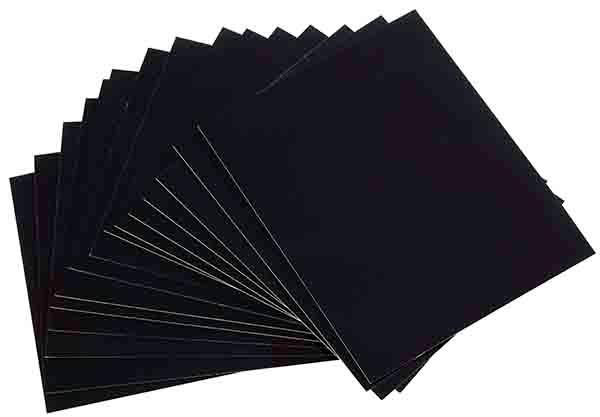 Beschriftungskarten, 50 Stück 10 x 8 cm , Schwarz