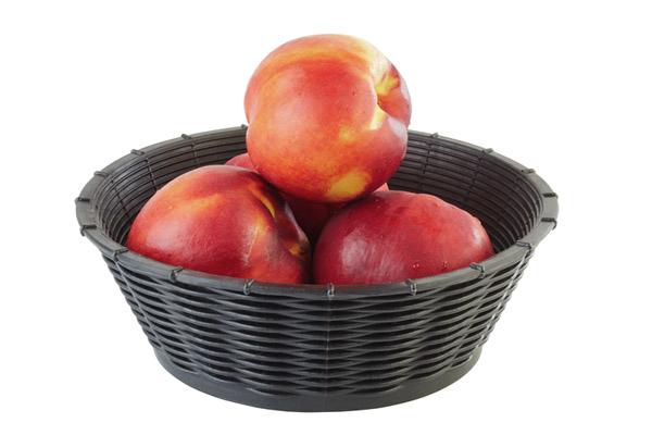 Brot- und Obstkorb Ø 20 cm, H: 6,5 cm , Schwarz
